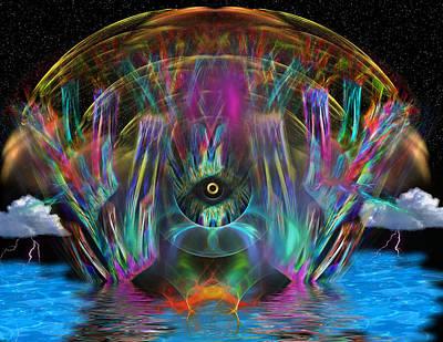 Horus Digital Art - The Eye Of Horus by Mario Carini