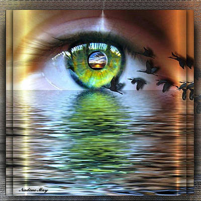 Observer Painting - The Eye Of The Observer by Nadine May