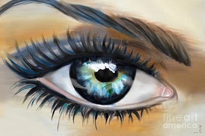 Self View Painting - The Eye Of The Present by Gabriela Tasiro
