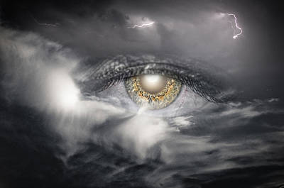 The Eye Of The Storm See's All Art Print by My Minds  Photographer