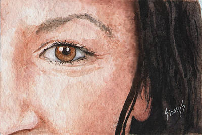 Painting - The Eyes Have It- Jessica by Sam Sidders
