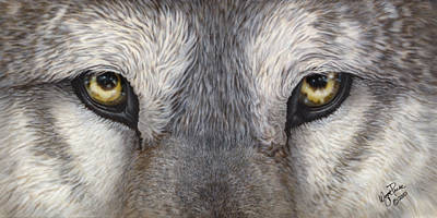 Dakota Painting - The Eyes Have It by Wayne Pruse