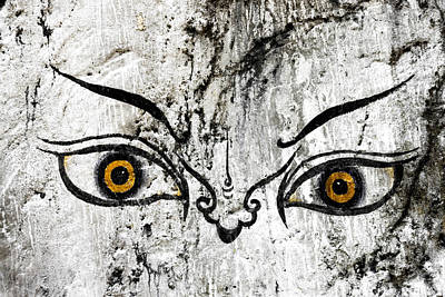 Bhutan Photograph - The Eyes Of Guru Rimpoche  by Fabrizio Troiani