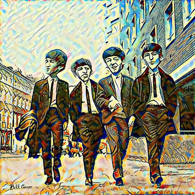 Fab Four Digital Art - The Fab Four by Bill Cannon