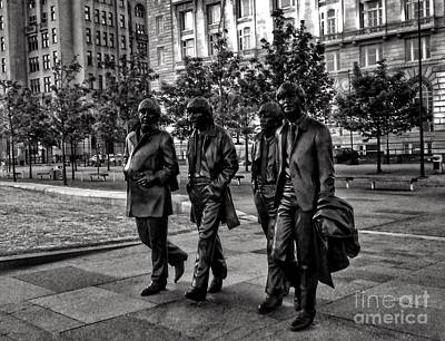 Photograph - The Fab Four In Black And White by Joan-Violet Stretch
