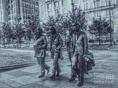 Photograph - The Fab Four In Cyantone by Joan-Violet Stretch