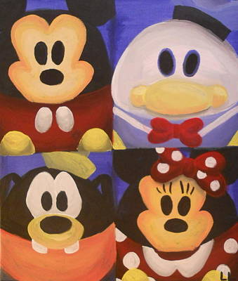 Fab Four Painting - The Fab Four by Lisa Leeman