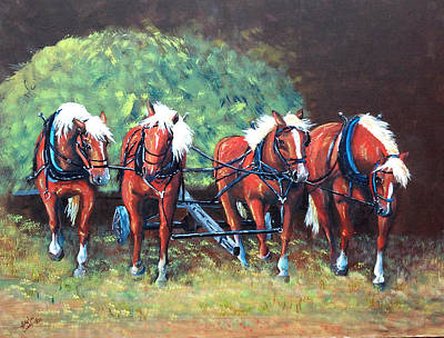 Painting - The Fabulous Four by Jean Ann Curry Hess