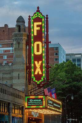 Photograph - The Fabulous Fox Sign Fox Theatre Atlanta Georgia Art by Reid Callaway