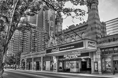 Photograph - The Fabulous Fox Theatre Bw Atlanta Georgia Art by Reid Callaway