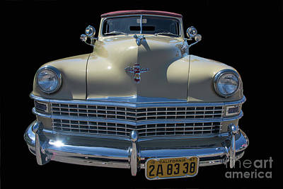 Photograph - The Face Of A Classic Chrysler Woodie by David Levin