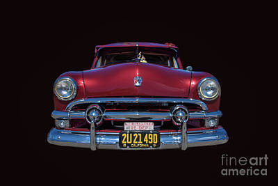 Photograph - The Face Of A Classic Ford Woodie by David Levin