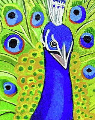 Painting - The Face Of A Peacock by Margaret Harmon