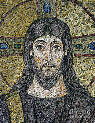 Byzantine Relief - The Face Of Christ by Byzantine School