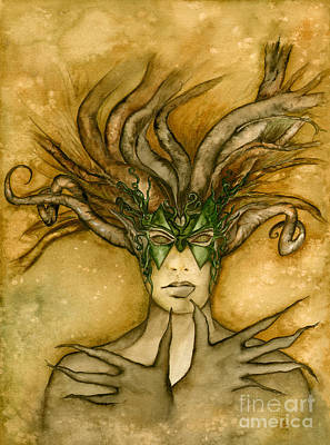 Fairy Art Painting - The Face Of Dryad by Alysa Fioretzi