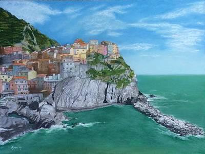 The Face Of Manarola Art Print