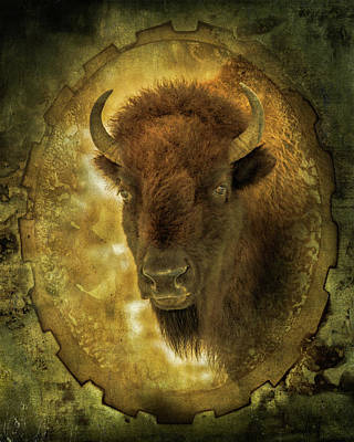 The Face Of Tatanka Art Print by TL Mair