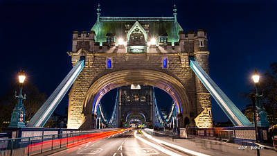 Photograph - The Face Of Tower Bridge by Walt  Baker