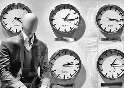 Photograph - The Faceless Time Keeper by Cornelis Verwaal