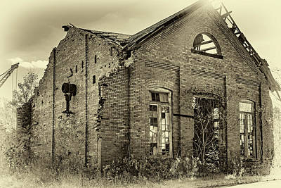 Weed Photograph - The Factory 2 Sepia by Steve Harrington