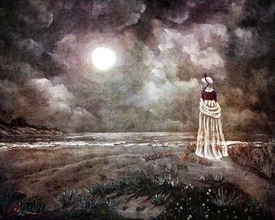 Digital Art - The Fading Memory Of Annabel Lee by Laura Iverson