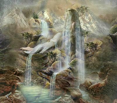 Digital Art - The Fae Falls 2 by Ali Oppy