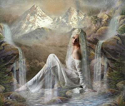 Digital Art - The Fae Falls by Ali Oppy