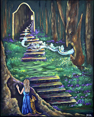 Painting - The Faery Gate by Diana Haronis