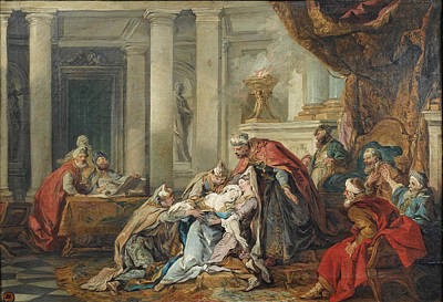 Esther Painting - The Fainting Of Esther by Jean-Francois Detroy