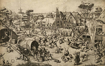 Relief - The Fair Of Saint George's Day by Pieter Bruegel the Elder