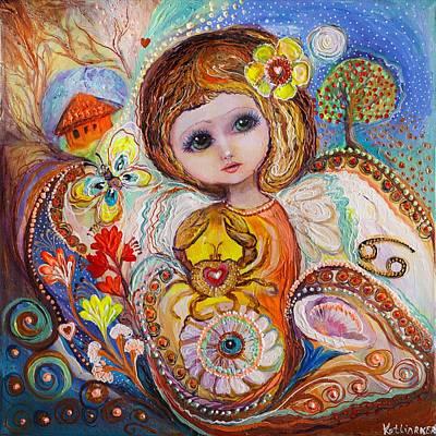 Zodiac Painting - The Fairies Of Zodiac Series - Cancer by Elena Kotliarker