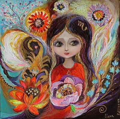 Zodiac Painting - The Fairies Of Zodiac Series - Scorpio by Elena Kotliarker