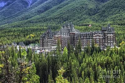 Recently Sold - Fantasy Royalty-Free and Rights-Managed Images - The Fairmont Banff Springs by Wayne Moran