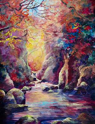 Painting - The Fairy Glen Wales by Bonny Roberts