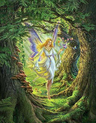 The Fairy Queen Art Print by Mark Fredrickson