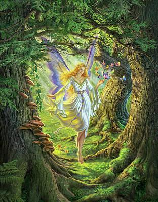 Redheads Digital Art - The Fairy Queen by Mark Fredrickson