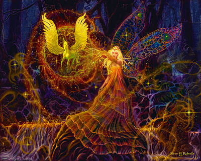 Painting - The Fairy Spell by Steve Roberts