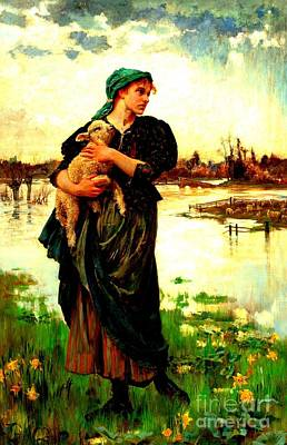 Painting - The Faithful Shepherdess 1886 by Peter Gumaer Ogden Collection