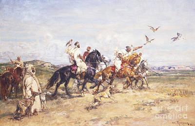 Falcon Painting - The Falcon Chase by Henri Emilien Rousseau