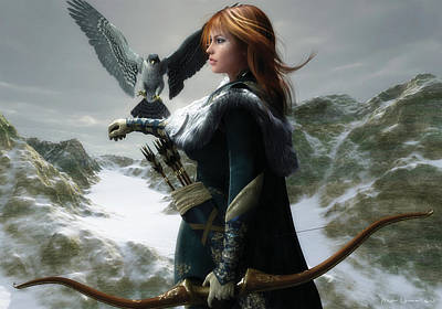 Digital Art - The Falconer by Melissa Krauss