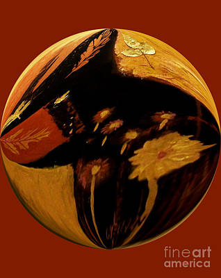 Abstract Digital Art Mixed Media - The Fall Ball by Marsha Heiken