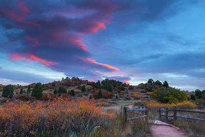 Art Print featuring the photograph The Fall Meadow by Tim Reaves