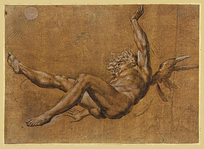Drawing - The Fall Of Icarus by Giovanni Baglione