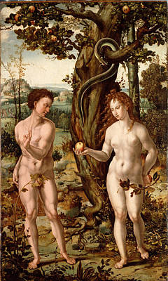 Painting - The Fall Of Man by Follower of Pieter Coecke van Aelst