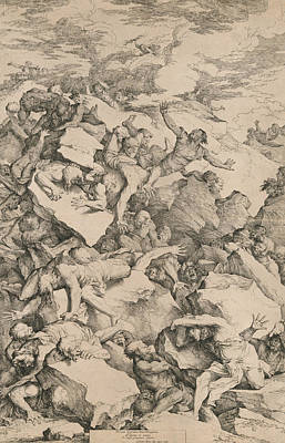 Relief - The Fall Of The Giants by Salvator Rosa
