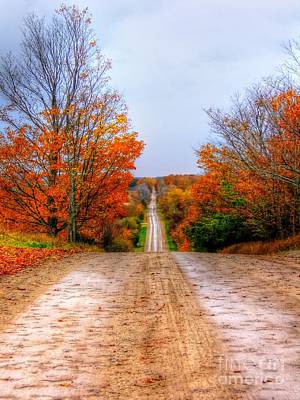 The Fall Road Art Print by Michael Garyet
