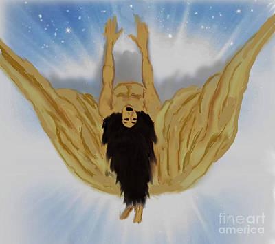 Painting - The Fallen Angel by Belinda Threeths