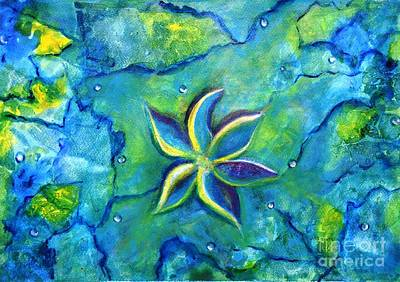Painting - The Fallen One- Story Of A Flower Colorful Abstract Painting by Manjiri Kanvinde