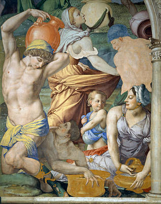 Painting - The Falling Of The Manna by Bronzino