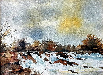 Painting - F..745  The Falls At Lismore, Waterford.. by Val Byrne